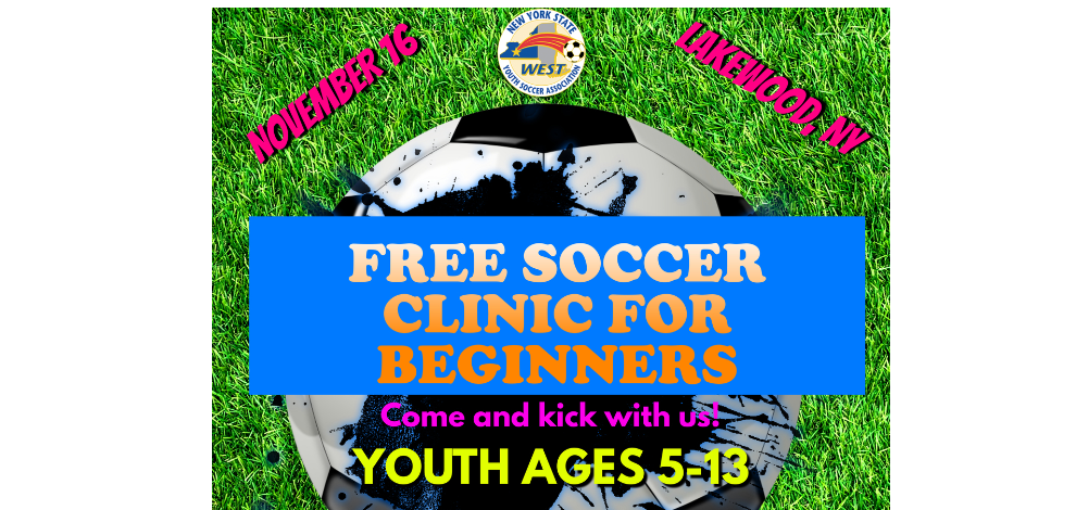 NYSW Free Soccer Clinic - Happening in November in Lakewood, NY